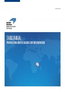 Tanzania Prioritizing Water Basins