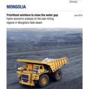 Hydro-economic analysis on the coal mining regions in Mongolia's Gobi desert