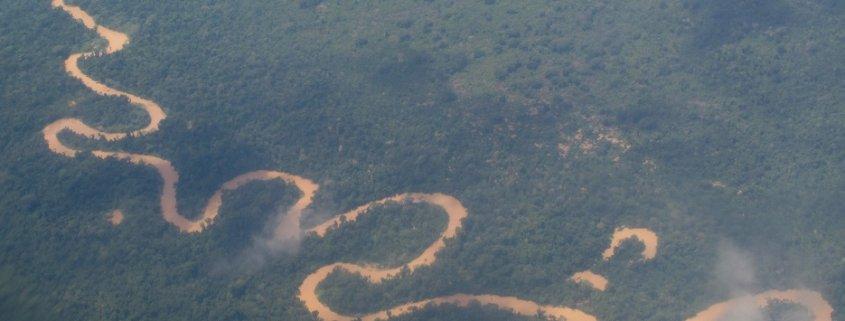 Meandering river Peru