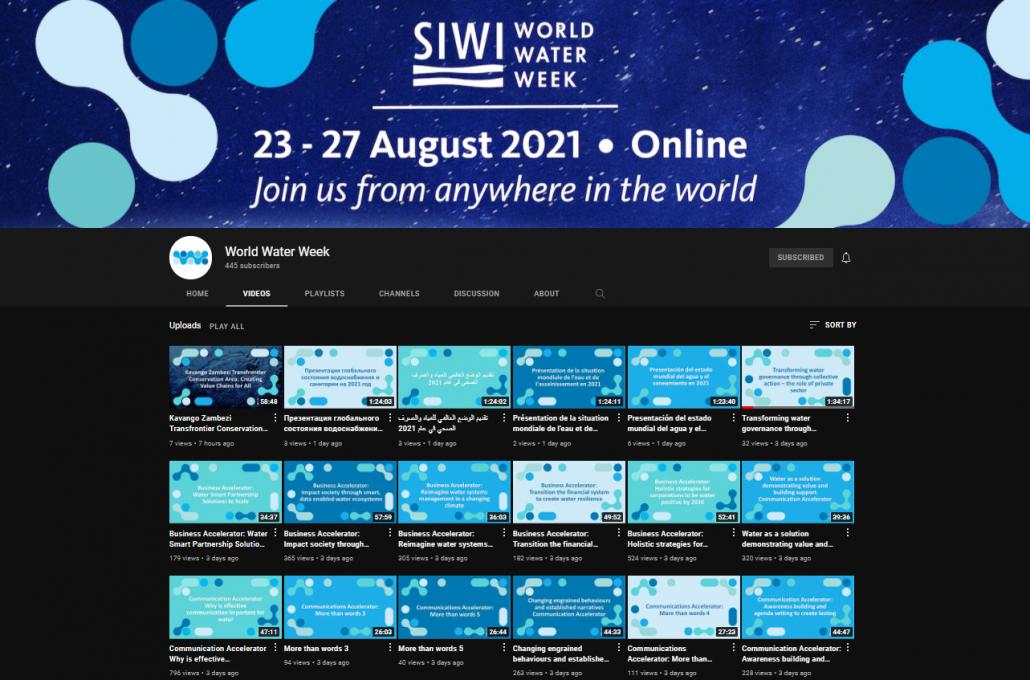 SIWI World Water Week YouTube Channel